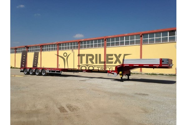 4 Axles Lowbed Trailer