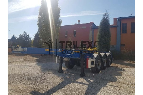 20 Feet Container Carrier Semi-Trailer - Light and Stable Chassis