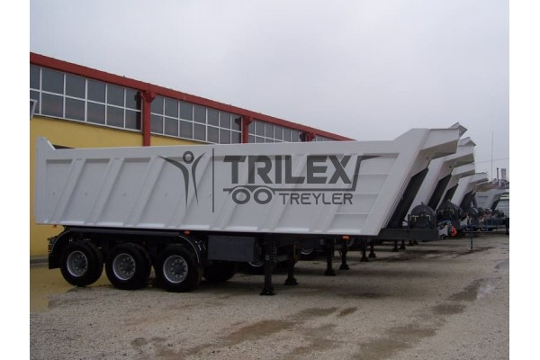 Rear tipping heavy duty tipping semi trailer